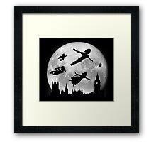 Full Moon over London Framed Print