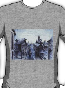 Wooden town on the chilly lake T-Shirt