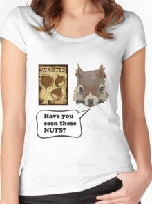 Funny Squirrel Looking For Nuts Women's Fitted Scoop T-Shirt