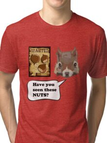 Funny Squirrel Looking For Nuts Tri-blend T-Shirt