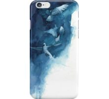 blue pigeons iPhone Case/Skin