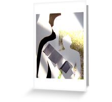 Blank Figures - walk away Greeting Card