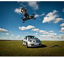 Car Jumping Photographic Print