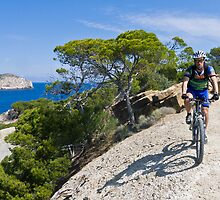 Mountain biker in Mallorca by Peter Luxem