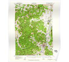 USGS Topo Map Oregon Cottage Grove 282376 1957 62500 Poster