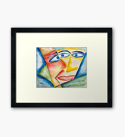 A one way discussion Framed Print