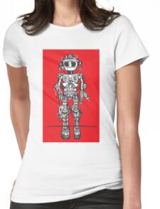 Big Eyed Robot 1 Womens Fitted T-Shirt