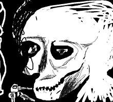 nude/keys/skull/bird -(230611)- digital artwork/ms paint by paulramnora