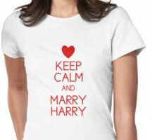 Keep Calm and Marry Harry Womens Fitted T-Shirt