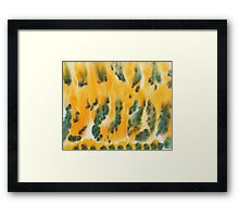 Green Fire Framed Print