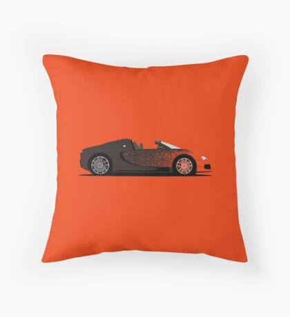 2012 Bugatti Veyron Grand Sport Bernar Venet Throw Pillow