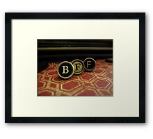 Best Friend Forever - BFF- Red Framed Print