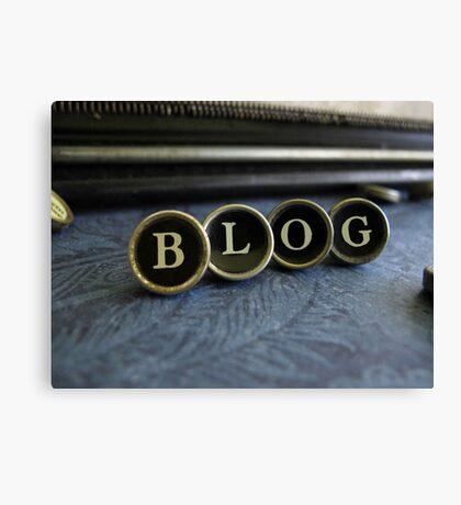 Blog - Blue Canvas Print