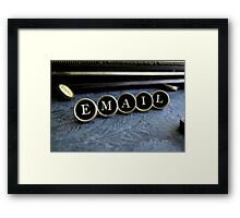 Email - Blue Framed Print
