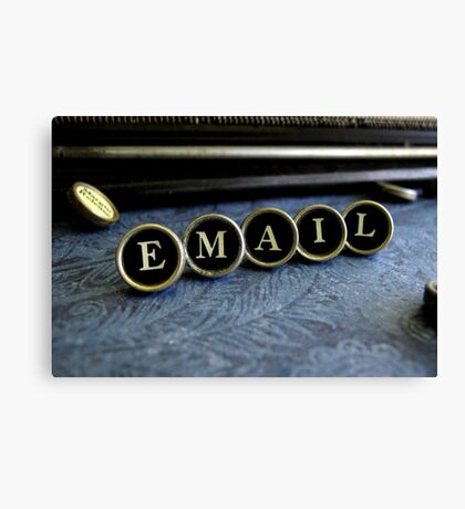 Email - Blue Canvas Print