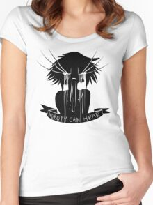 Nobody Can Hear You Women's Fitted Scoop T-Shirt