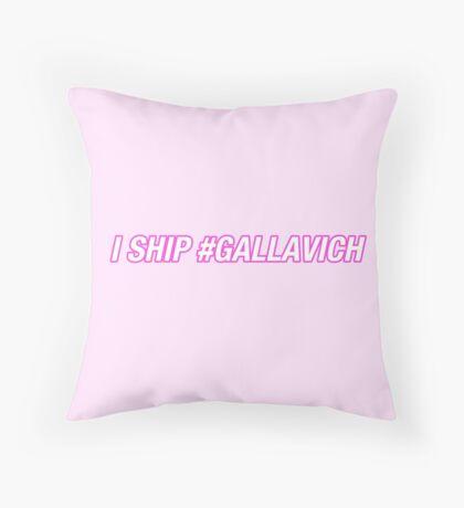 I ship #gallavich  Throw Pillow