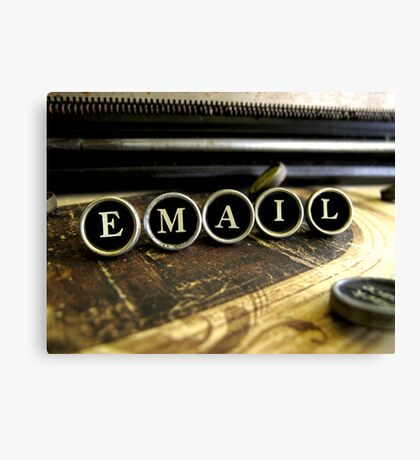 Email - Brown Canvas Print