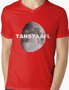 TANSTAAFL & Moon Mens V-Neck T-Shirt