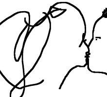 the kiss -(230611)- digital artwork/ms paint by paulramnora