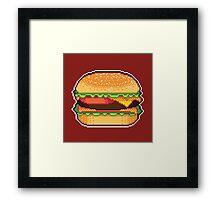 Pixel Burger Framed Print