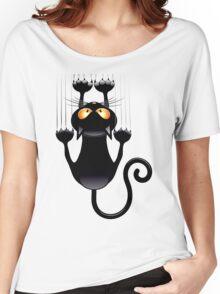 Clings cat Women's Relaxed Fit T-Shirt