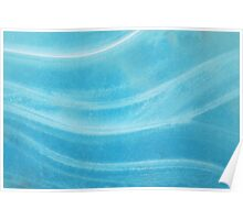Blue Wave Ice Abstract Poster
