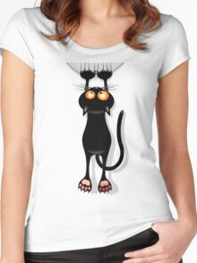 Cat clings Women's Fitted Scoop T-Shirt
