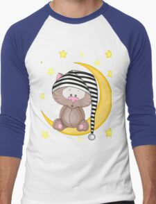 Cat moon dream Men's Baseball ¾ T-Shirt