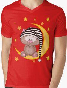Cat moon dream Mens V-Neck T-Shirt