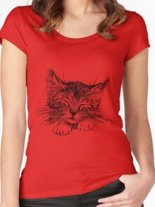 Cat animal Women's Fitted Scoop T-Shirt