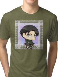 Lacy Chibi Levi  Tri-blend T-Shirt