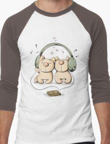 Cats & music Men's Baseball ¾ T-Shirt