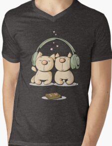 Cats & music Mens V-Neck T-Shirt