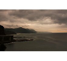 Stormy Seacliff morning Photographic Print