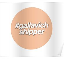 #gallavich shipper - orange  Poster