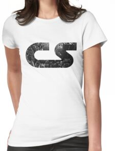 Christian Strobe - Logo Skyscraper Womens Fitted T-Shirt