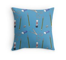 I love stationery in Blue Throw Pillow