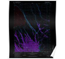 USGS Topo Map Oregon Egli Rim 279763 1982 24000 Inverted Poster