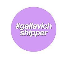 #gallavich shipper - purple  Photographic Print