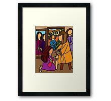 MARY WASHES JESUS FEET Framed Print