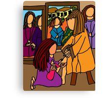 MARY WASHES JESUS FEET Canvas Print