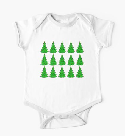 Christmas tree (multiple) One Piece - Short Sleeve