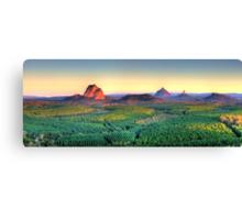Glasshouse Mountain Panoramic Canvas Print