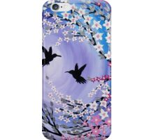 I Found You - mauve humming birds iPhone Case/Skin
