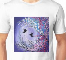 I Found You - mauve humming birds Unisex T-Shirt