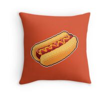 Pixel Hot Dog Throw Pillow
