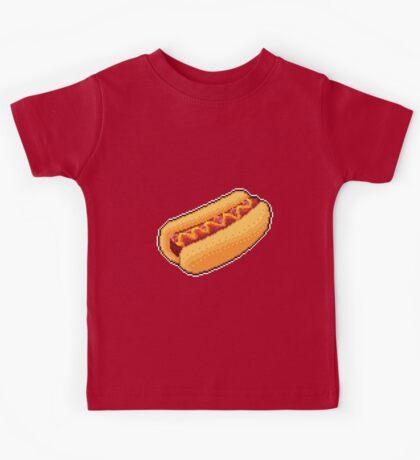 Pixel Hot Dog Kids Tee