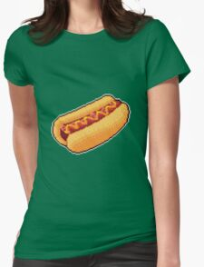 Pixel Hot Dog Womens Fitted T-Shirt