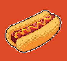 Pixel Hot Dog by skywaker